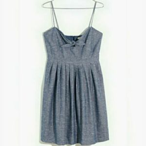 Madewell Chambray Tie-Front Cutout Cami Dress, SZ6